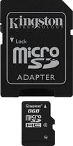 Kingston - 8GB microSDHC Class 4 Memory Card - Black