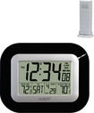 La Crosse Technology - WS-8115U-B Atomic Digital Wall Clock - Black