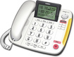 Uniden - CEZ260 Corded Speakerphone with Call-Waiting Caller ID - White