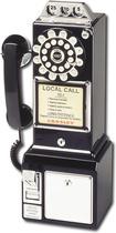 Crosley - CR56-BK Corded 1950s Classic Pay Phone - Black