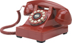Crosley - CR60-RE Corded Kettle Classic Desk Phone - Red