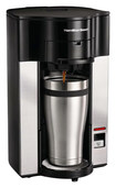 Hamilton Beach - Stay or Go Personal Cup Pod Coffeemaker - Black/Chrome