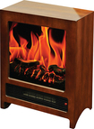 Frigidaire - Kingston Freestanding Electric Fireplace - Wood Brown