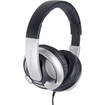 SYBA Multimedia - Oblanc UFO200 Over Ear Stereo Headset with In line Mic & Call Control - Black, Silver - Black, Silver