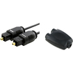 eForCity - 6' / 1.8m Optical Audio Cable and Female Splitter Adapter Bundle