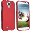 eForCity - Rubber Coated Case Cover for Samsung Galaxy S 4 - Red - Red