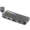 "Sabrent - 4-Port USB 2.0 Hub Bus-Powered Slim ""Harmonica"" - Silver"