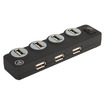 Digital Innovations - Connect + Charge 7-Port Hub, Powered - Black
