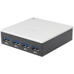 SIIG - 4-Port USB 3.0 Hub with 5V/4A Adapter - Black, Silver
