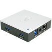 SIIG - USB 3.0 & 2.0 Hub with Gigabit Ethernet and 5V/4A Adapter - Black, Silver