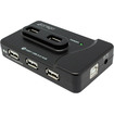 HornetTek - High Speed USB 2.0 7-Port Hub with Dedicated iPad® Charging Port - Black