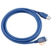 eForCity - SuperSpeed USB 3.0 Cable, Type A to Type B Micro, M / M, 6 FT, - Blue - Blue