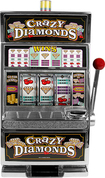 Trademark - Crazy Diamonds Slot Machine Bank