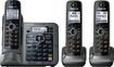 Panasonic - KX-TG7643M Cordless Phone with Answering Machine - Metallic Gray