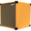Seismic Audio - Tolex GUITAR SPEAKER CABINET EMPTY 1x12 Cube Cab - Orange, Wheat - Orange, Wheat