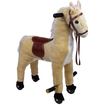 Trademark - Happy Trails Plush Walking Horse with Wheels and Foot Rest