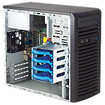 Super Micro - SuperServer Barebone System Mid-tower - Intel C202 Chipset - Socket H2 LGA-1155 - Black