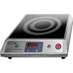 Summit - Glass Electric Cooktop - Black, Stainless Steel