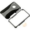 eForCity - Snap-on Rubber Coated Case Compatible with Apple iPhone 3G / 3GS - Grey/Black Cup Shape - Grey/Black Cup Shape