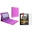 eForCity - Keyboard Stand Leather Case with LCD Cover for Select iPad® Tablets - Purple