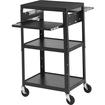 Bretford - Basics Computer Stand - 5 x Shelf(ves) - Black - Black