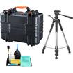Vanguard - Supreme 37F Waterproof Professional Case w/ Foam Interior + Tripod for Digital SLR Cameras