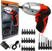 Trademark Tools - 25-Piece 4.8V Cordless Screwdriver Set - Red/Black/Silver