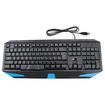 Image - LED Backlit Illuminated Backlight USB Wired Professional Ergonomic PC Gaming Keyboard - Blue - Blue