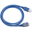 eForCity - SuperSpeed USB 3.0 Cable, Type A to Type B Micro, M/M, 3 FT, - Blue - Blue