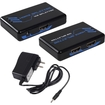 Fosmon - Mini HDMI Splitter Amplifier 1 In to 2 Out Dual Display with Power Adapter (Supports 3D)