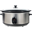 Brentwood - SC-165W 8 qt. Slow Cooker - Stainless Steel
