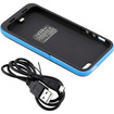 DrHotDeal - 2 Pc External Rechargeable 2500mAh Backup Battery Hard Shell Case Back Cover for iPhone 5 - Black, Blue - Black, Blue