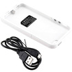 DrHotDeal - 2 Pc External Rechargeable 2500mAh Backup Battery Hard Shell Case Back Cover for iPhone 5 - White - White