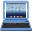 Aluratek - Folio Case w/ Bluetooth Keyboard f/ iPad® 2, The New iPad® , iPad® w/ Retina Display - Sky Blue