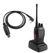 Image Entertainment - BF-888S Walkie Talkie 16CH FRS/GMRS Two-Way Radio (Pair) W/built-in Battery + USB Programming Cable - Black - Black