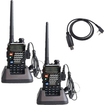 Image Entertainment - 2 Packs BaoFeng Model UV5RE 136-174/400-480 MHz Dual Band FM 2-Way Radio plus USB Programming Cable