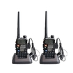 Image Entertainment - 2 Packs UV-5RE BaoFeng Model 136-174/400-480 MHz Dual Band FM Two Way Radio + Free earpiece - Black