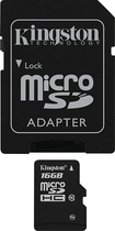 Kingston Technology - 16GB microSDHC Class 10 Memory Card - Black