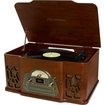 Electrohome - Wellington Nostalgia Turntable Real Wood Stereo System w/ Record Player,USB Recording,MP3,CD & Radio - Wood