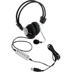 Pyle - PHPMCU10 Wired Stereo Headset - USB 32Ohm - 20Hz-20kHz - Over-the-head - Ear-cup - 6 ft Cable