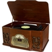 Electrohome - Winston Vintage Classic Turntable Real Wood Stereo System w/ AM/FM Radio/CD/Full Size Record Player - Wood