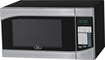 Oster - 0.9 Cu. Ft. Compact Microwave - Stainless-Steel/Black