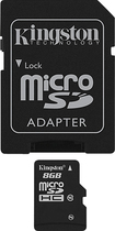 Kingston - 8GB microSDHC Class 10 Memory Card - Black