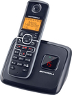 Motorola - DECT 6.0 Expandable Cordless Phone with Digital Answering System - Black