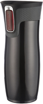 Contigo - 16-Oz. AUTOSEAL West Loop Stainless Travel Mug with Open-Access Lid - Black
