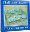 Trademark - Elegant Glass Chess and Checker Board Set