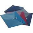 Pendaflex - ViewFront Poly Booklet Envelope, Side Opening, 11 x 9 1/2, 3 Colors, 4/Pack