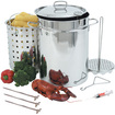 Bayou Classic - Turkey Fryer With Lid, Stainless Steel, 32 Quart - Multi