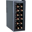 SPT - WC-1271 12-Bottle Thermo-Electric Slim Wine Cooler - Black, Platinum