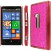MPERO - Sparkling Glitter Slim-Fit Glam Case for Nokia Lumia 920 - Hot Pink Sparkling Glitter - Hot Pink Sparkling Glitter